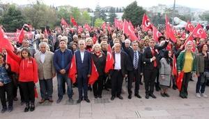 Balıkesir CHP İl Örgütünden Milli Egemenlik yürüyüşü