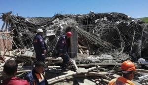 Diyarbakırda inşaat çöktü: 1 ölü, 2 yaralı