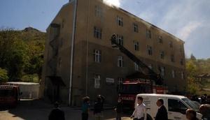 Tokatta Kuran kursunda çıkan yangın hasara neden oldu
