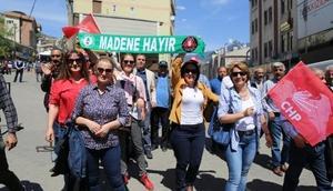 Artvin'de maden protestolu 1 Mayıs kutlaması