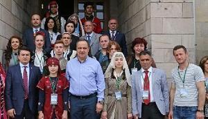 Giresun Festivalinin konukları Başkan Aksuyu ziyaret etti