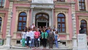 AB projesiyle Edirne'ye gelen kadınlar, belediye çalışmalarını inceledi
