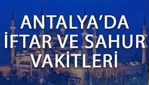 Antalyada iftar vakti ne zaman Antalyada iftar saat kaçta
