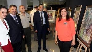 Rizede resim sergisi açıldı