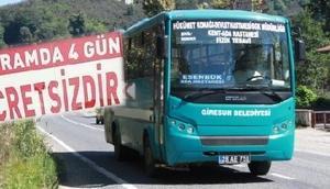 Giresunda belediye otobüsleri bayramda ücretsiz hizmet verecek