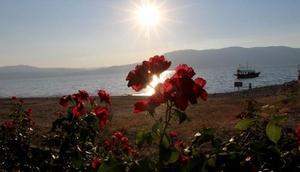 Burdur Gölünde gün batımı