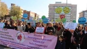 Kırıkkalede kadına şiddete kınama