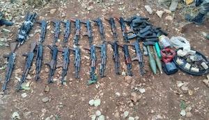 Mardinde PKKya ait çok sayıda silah, patlayıcı ve mühimmat ele geçirildi