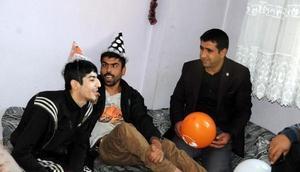 Mardindeki Suriyeli engelliler unutulmadı