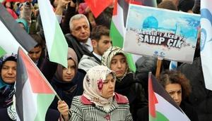 Tokat'ta STKlardan Kudüs protestosu