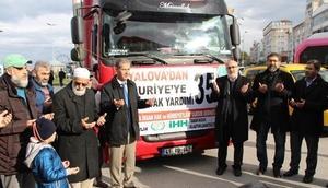 Yalova'dan Suriye'ye 35'inci yardım tırı