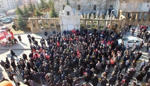 Yozgatta cuma namazı çıkışı Kudüs protestosu