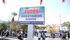 Aydın Büyükşehirden Kudüs pankartı