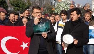Edirne ve Tekirdağda Kudüs protestoları