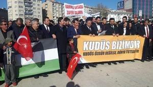 Kırşehirde, ABD ve İsrail protesto edildi