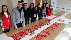 Erzincandan Afrin harekatına katılan Mehmetçiğe bayraklı destek