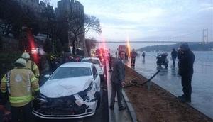 Sarıyer Sahil Yolu'nda kaza: 4 yaralı