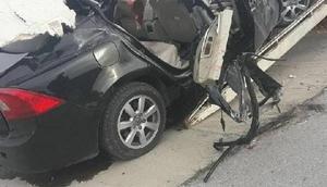 Kırklarelide otomobil TIRa çarptı: 3 ölü, 3 yaralı / Fotoğraflar