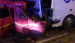 Amasya'da otobüs ile minibüs çarpıştı: 1 ölü, 4 yaralı