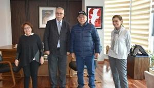 Başkan Gökhan, İzmir Büyükşehir Belediye Başkanı Kocaoğlunu ağırladı