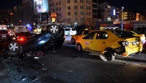 Otomobil takla attı, ehliyetsiz sürücüsü yara almadan kurtuldu