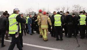 TEM Otoyolunda kaza: 6 polis yaralandı