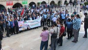 Şanlıurfa'da, Büyük Felaket Nekbe protestosu