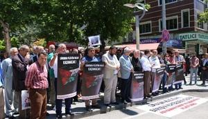 Adıyamanda İsrail protestosu