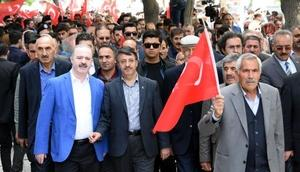 Van, Bitlis ve Hakkaride Kudüs protestosu