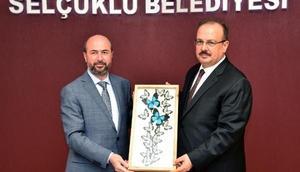 Konya Valisi, Selçuklu Belediye Başkanını ziyaret etti