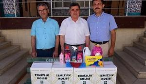 Osmaniye Belediyesinden camilere temizlik malzemesi