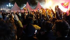 Galatasaraylı taraftarlar, Erzurumda sokağa döküldü