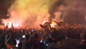 Karabük'te Galatasaray taraftarı şampiyonluğu kutladı