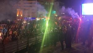 Şanlıurfa'da meşaleli şampiyonluk kutlaması