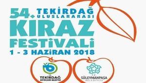 54üncü Tekirdağ Uluslararası Kiraz Festivali programı belli oldu