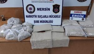 Mersin'de 15 kilo eroin ele geçirildi