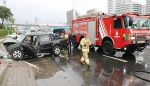 E-5te trafik kazası: Bir kişi ağır yaralı