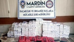 Mardinde kaçak sigara ve uyuşturucu operasyonu