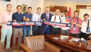 Kırıkkale Büyük Anadoluspor, Türk Metal Sendikasını ziyaret etti