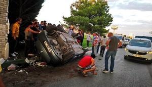 Otomobil takla attı, Damla hayatını kaybetti