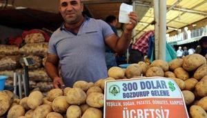 Boluda pazarcılardan dolar bozdurana sebze-meyve ücretsiz