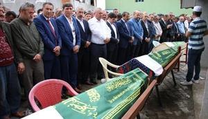 İstanbuldaki kazada ölen 3 kardeş Orduda toprağa verildi