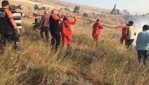 Aksarayda orman yangını 100 dönüm mera alanı kül oldu