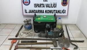 Ispartada kaçak kazı operasyonu