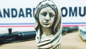 Bartında, Meryem Ana figürlü büst ele geçirildi