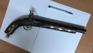 Çankırıda 1850li yıllara ait tüfek ele geçirildi