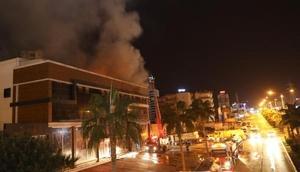 Mersinde tekstil fabrikasında yangın / Ek Fotoğraflar