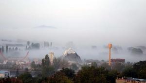 Kayseride yoğun sis, Erciyeste kar