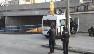 Ankara Adliyesi önündeki şüpheli çanta fünye ile patlatıldı
