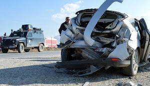 Ağrıda trafik kazası